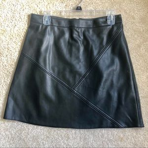 Zara Vegan Leather black skirt sz L